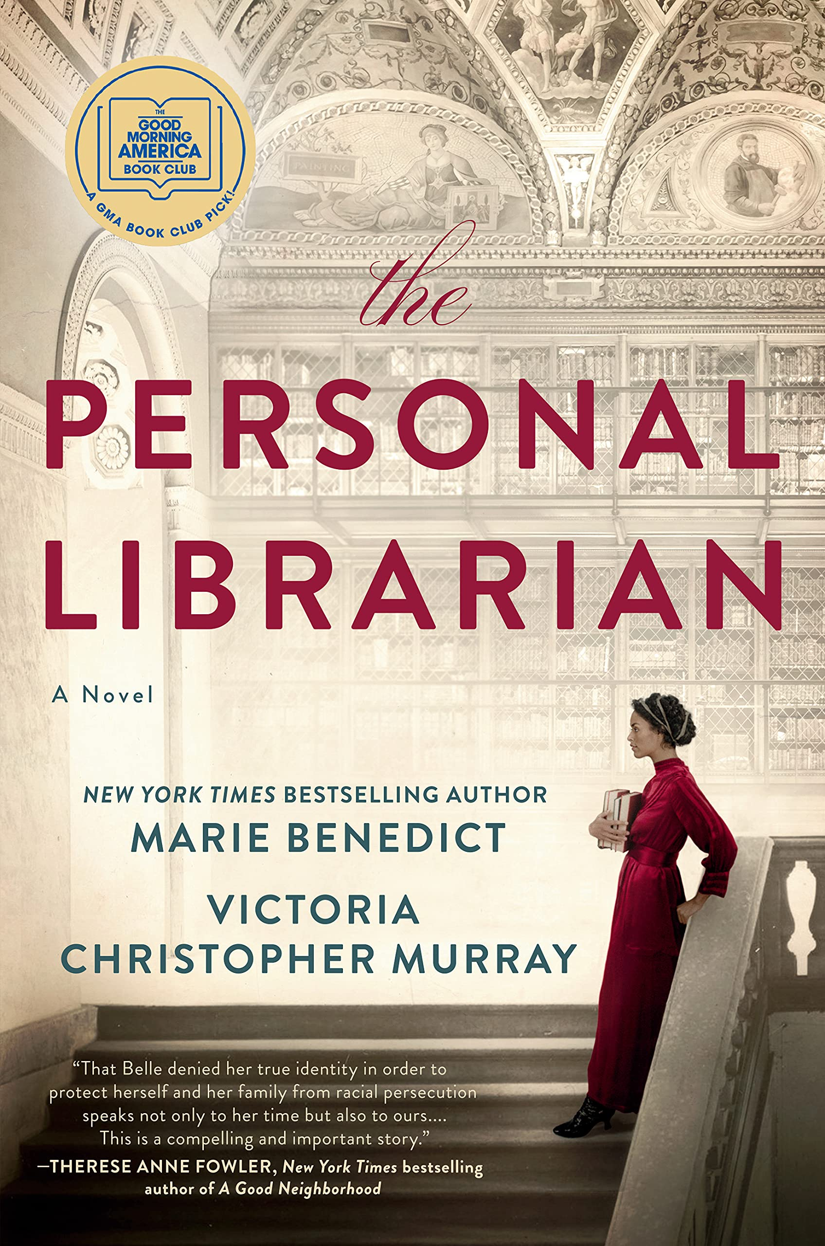 Amazon.com: The Personal Librarian: 9780593101537: Benedict, Marie, Murray, Victoria Christopher: Books
