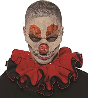 Unisex Adult Clown Collar Costume-Red/Black, One Size