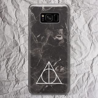 For S7 S8 S9 S10 Plus S10e Black Marble Harry Potter Phone Case Note 9 8 5 4 Samsung Galaxy S7 S6 Edge Plus S5 Deathly Hallows Merchandise gifts Art Print Cell Phone Clear Silicone Cover