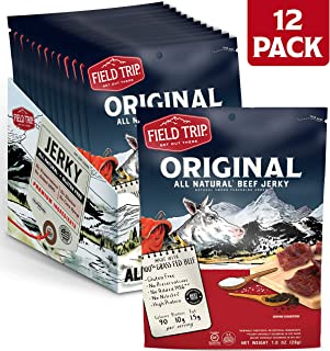 Field Trip Beef Jerky | Gluten Free Jerky, Low Carb, Healthy High Protein Snacks With No Nitrates, Made With All Natural Ingredients | Original | 1oz Bags, 12 Pack
