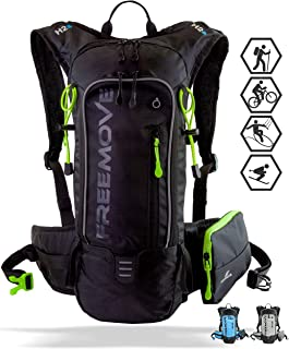 FREEMOVE Hydration Pack - Camel Backpack - 2 Liter Water Bladder - Cooler Bag - External Pocket | Lightweight, Fully Adjustable, Leakproof, 10L Hydration Backpack | Gear for Hiking, Cycling, Running