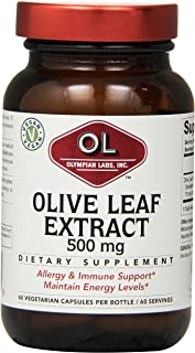 Olympian Labs Olive Leaf Extract, 500mg 60 Capsule