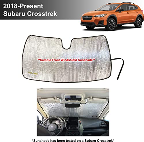 high quality YelloPro Custom Fit Automotive Reflective Front Windshield Sunshade Accessories UV Reflector Sun Protection for 2018 2019 2020 new arrival 2021 Subaru Crosstrek, 2.0i Premium Limited Wagon [Made 2021 in USA] outlet online sale