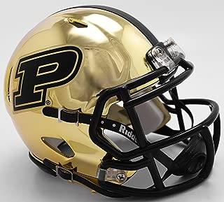 Purdue Boilermakers Riddell Chrome Speed Mini Football Helmet - New in Riddell Box