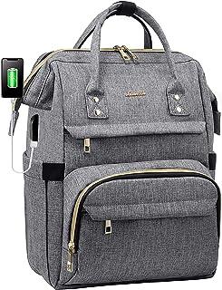کوله پشتی لپ تاپ زنانه کوله پشتی زن معلم 15.6 اینچی کیف دستی کیف دستی مسافرتی مقاوم در برابر آب با درگاه شارژ USB ، بند چمدان ، جیب ضد تیف ، جیب تبلت (خاکستری)