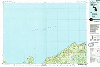 YellowMaps Au Sable Point MI topo map, 1:100000 Scale, 30 X 60 Minute, Historical, 1984, Updated 1994, 24.1 x 36.9 in