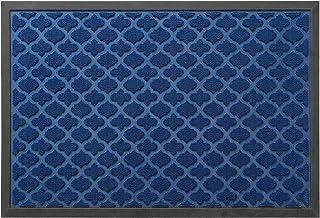 """تشک درب جلو درب داخل منزل ، لاستیک کوچک سنگین وظیفه فرش طبقه داخلی برای پاسیوی ورودی ضد آب با مشخصات کم ، 23 """"x35"""" ، آبی سرمه ای"""