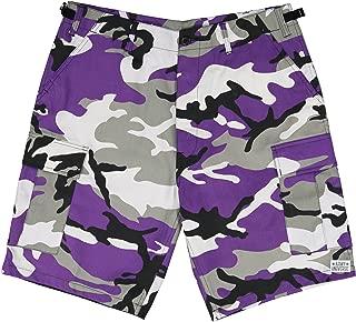 Mens Military Cargo BDU Shorts Tactical 6 Pocket Army Uniform Work Shorts Pin