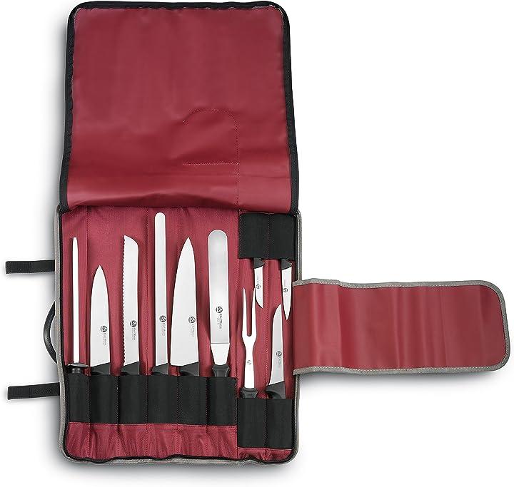 Astuccio da cuoco 10 pz 9 coltelli chef master e 1 affilatoio ausonia B00XL0J0P2