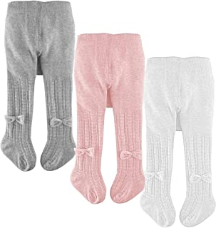 Cotton Baby Girl Tights Cable Knit Seamless Toddler Leggings Pants Stockings
