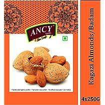 Ancy Foods Premium Dry Fruits (Kagazi badam 1kg)(Pack of 4x250g)