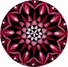 Grund Bath Mat, Ultra Soft and Absorbent, Anti Slip, 5 Years Warranty, SPUR of The Moment, Mandala 80 cm Round, Bordeaux