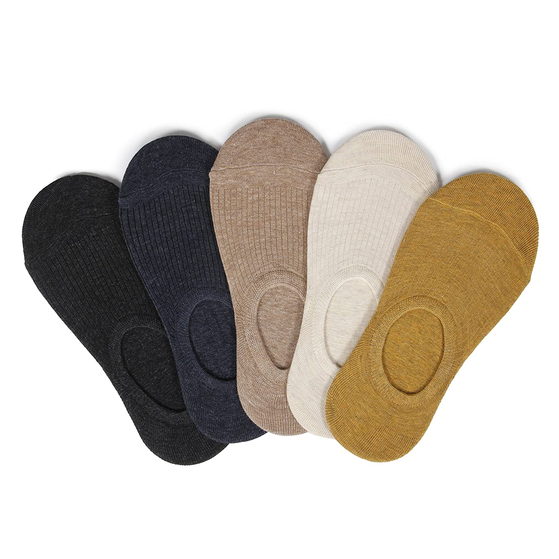 ETAOLINE レディース ソックス 浅履き 靴下 綿 ショートソックス フットカバー くるぶし 脱げにくい 抗菌防臭 5足セット
