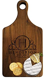 Personalized Cheese Maple Walnut Cutting or Serving Board - Custom Monogrammed for Free (Walnut)