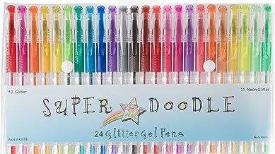 Super Doodle - Glitter Gel Pens - 24 Glitter Colors - Premium Quality Gel Pen Set for Crafting, Doodling, Drawing, Scrapbo...