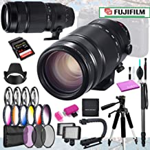 Fujifilm XF 100-400mm f/4.5-5.6 R LM OIS WR Lens Professional Bundle with 13 Professional Filter Sets & 14 Piece Accessories
