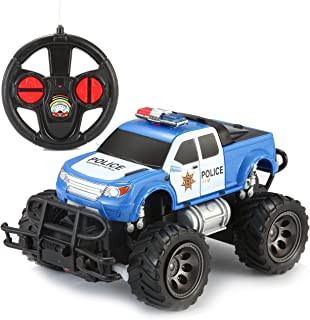 Joyin Toy RC Remote Control Police Car Monster Truck Radio Control Kids Police Toy Cars