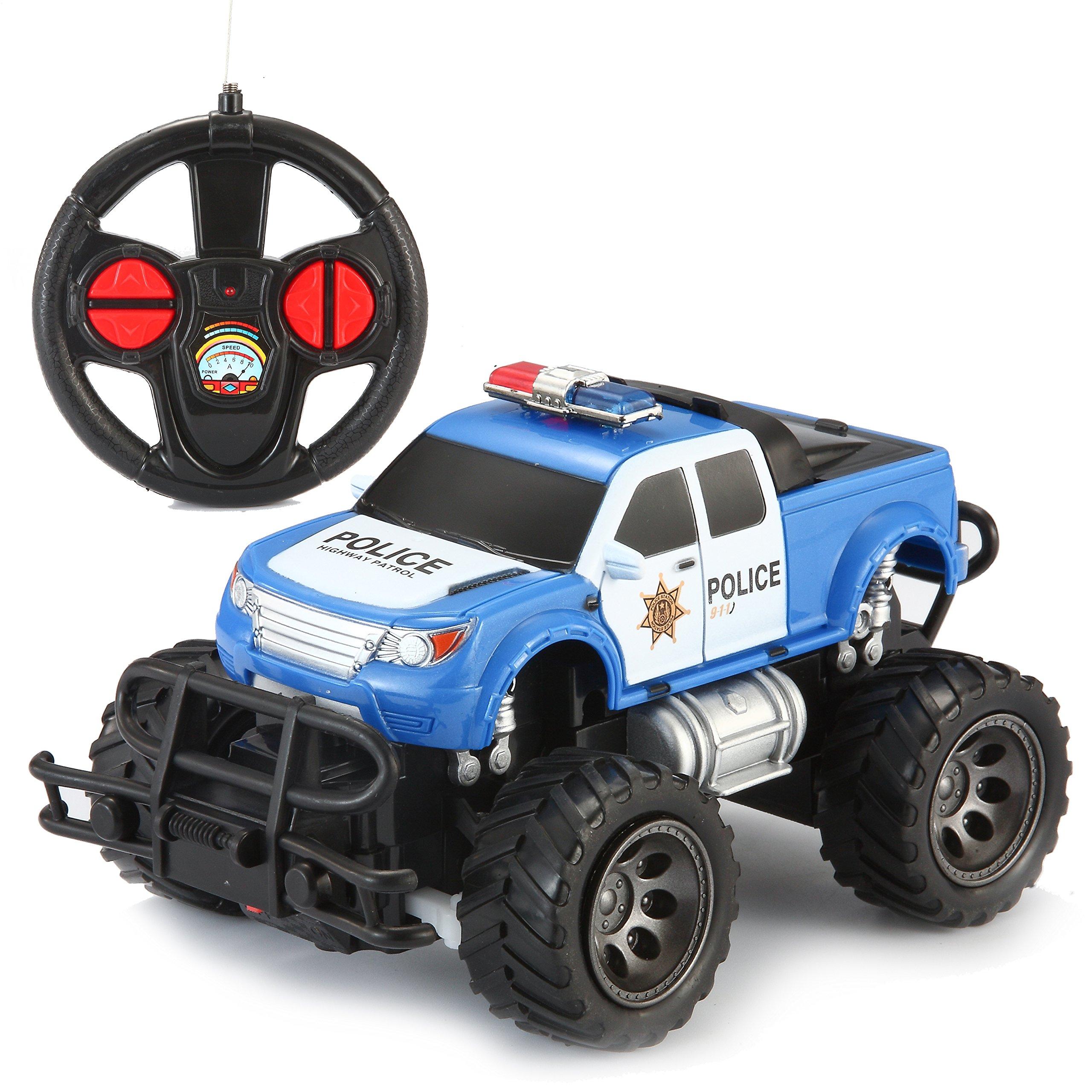 Joyin Toy Rc Remote Control Police Car Monster Truck Radio Control Kids Police Toy Cars Amazon Com Au Toys Games