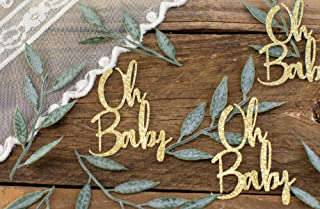 Oh Baby Baby Shower, Greenery Baby Shower Decorations, Confetti, Gender Neutral Baby Shower Decorations, Sweets Table Baby Shower
