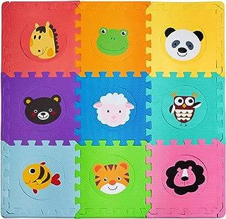Foam Floor Mats for Kids – Baby Floor Mat Foam – Animal Puzzle Mat – Soft, Reusable, Easy to Clean, Non-Toxic