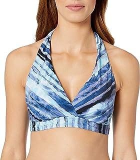24th & Ocean Women`s Banded Halter Hipster Bikini Swimsuit Top
