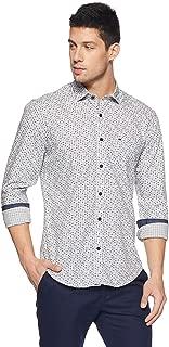Peter England Men's Plain Slim Fit Casual Shirt