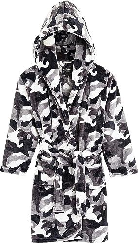 CityComfort Peignoir Enfant Garçon ou Fille, Robe De Chambre Polaire Chaude en Pilou Camouflage Militaire, Cadeau Gar...