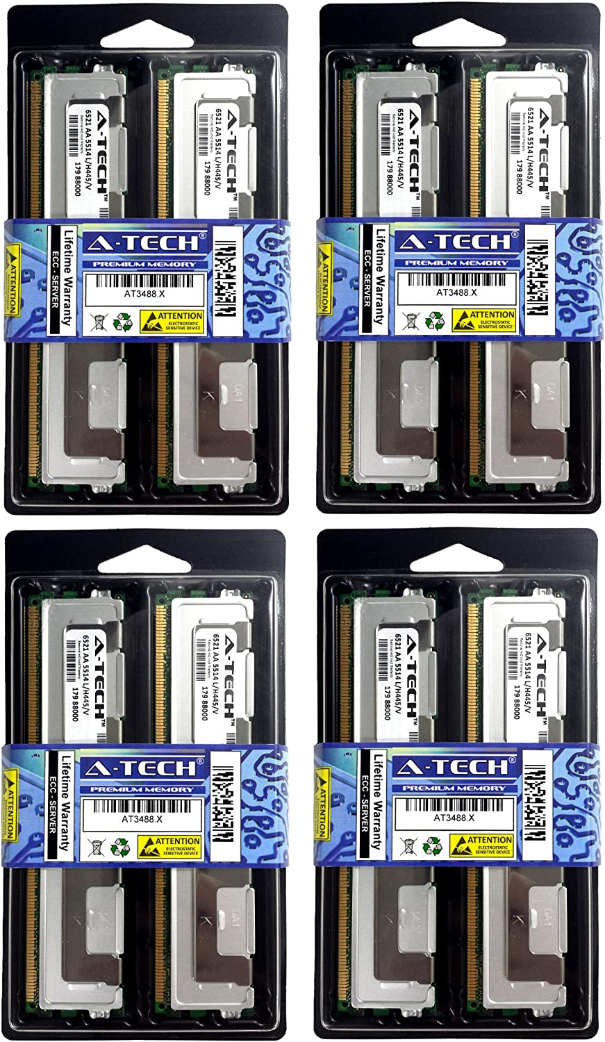 Fully Buffered Kit for The SuperMicro SuperServer 7045A-3 2x2GB DDR2-667 PC2-5300 4AllMemory 4GB