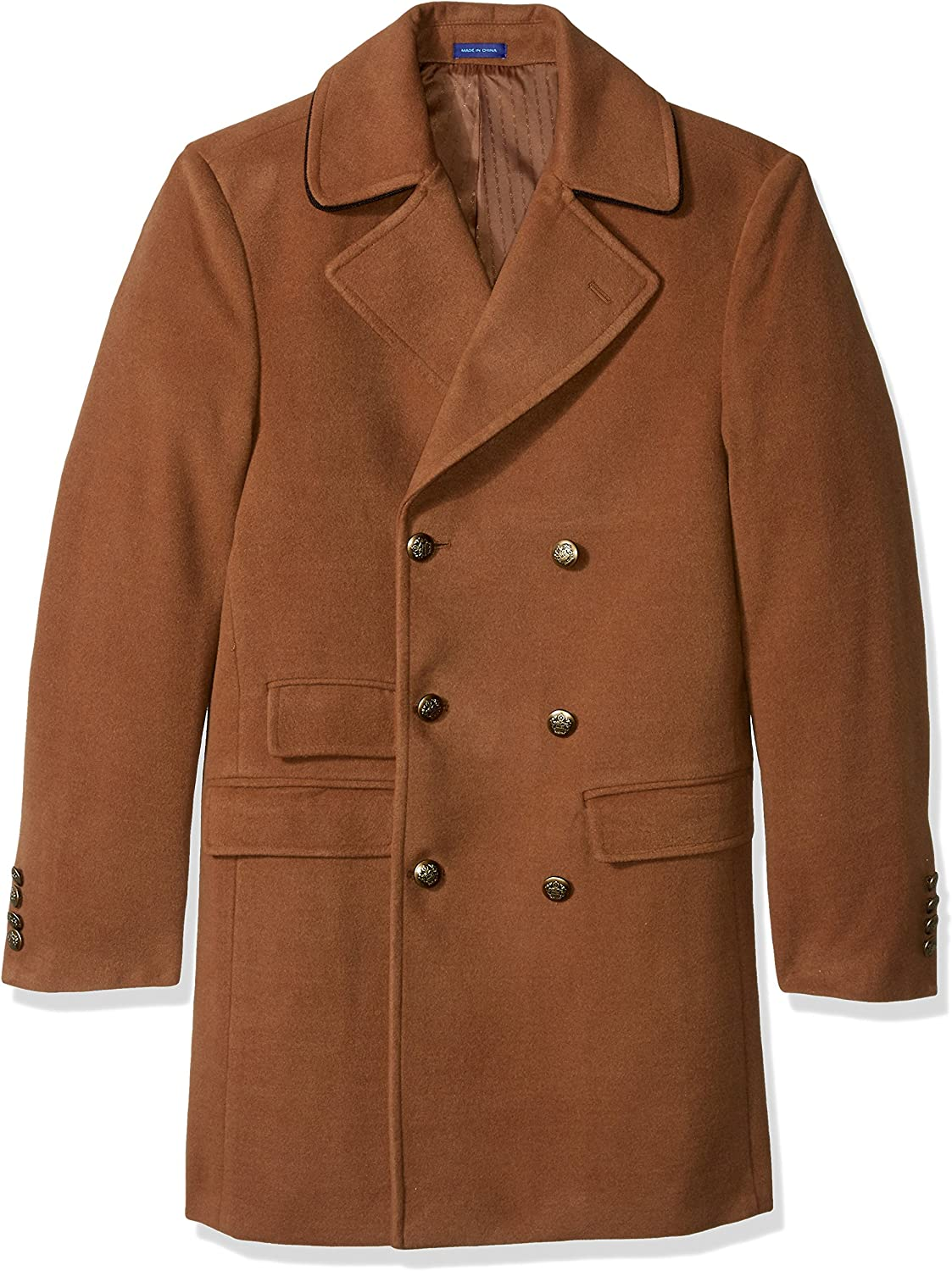 STACY ADAMS Men's Big and Tall Big & Tall Tomy Double Breasted 36 Inch Topcoat