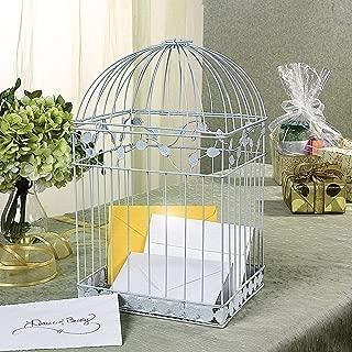 Fun Express White Birdcage Wedding Gift Card Holder