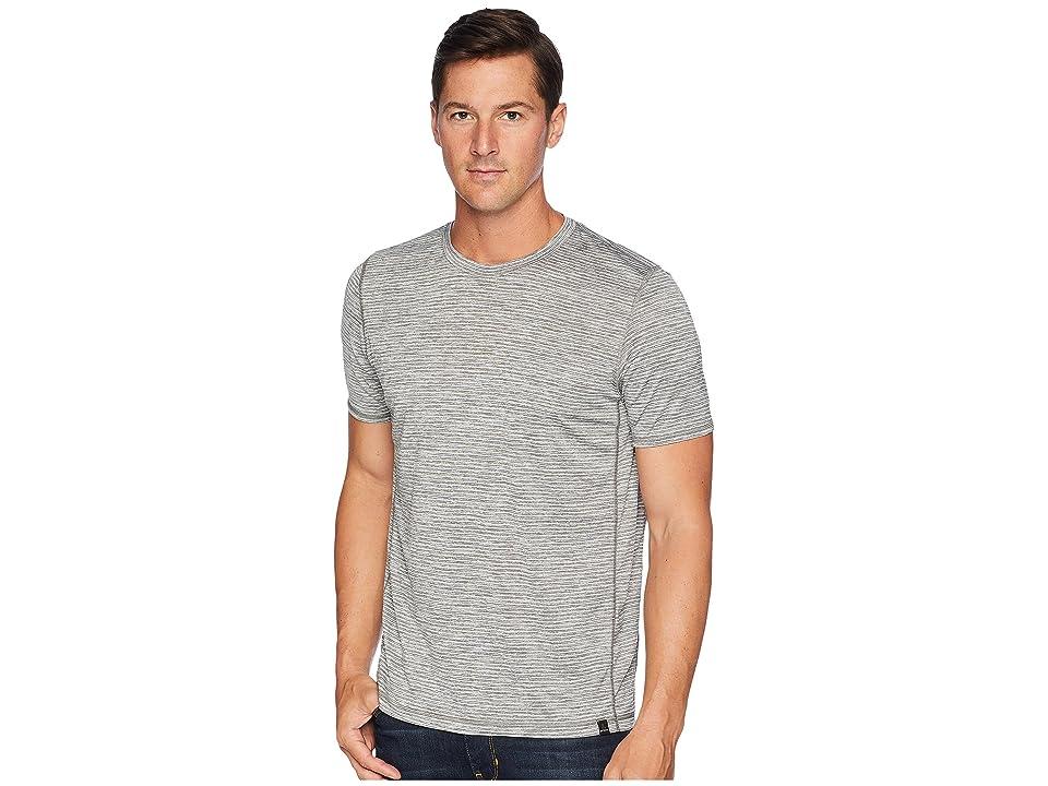 Prana Hardesty T-Shirt (Titanium Grey Stripe) Men