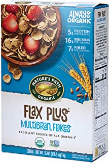 Nature's Path Organic Flax Plus Flakes, Cereal, 35 Ounce Boxes, (Pack of 6)