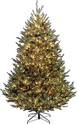 National Tree Company Pre-lit Artificial Christmas Tree   Includes Pre-strung White Lights   Fraser Fir Medium - 7.5 ft