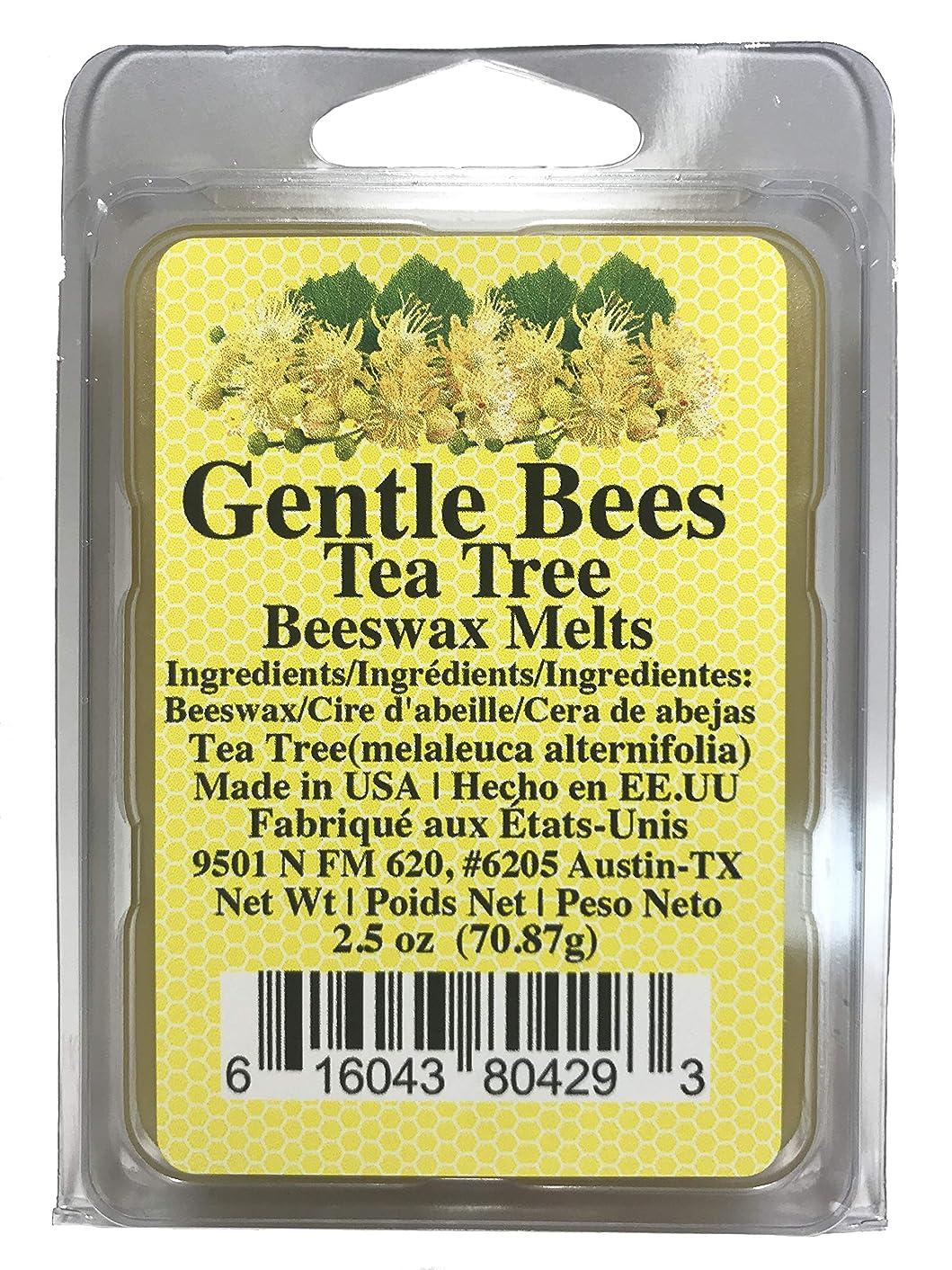 Gentle Bees Organic Tea Tree Beeswax Melts, 2.5 Ounces