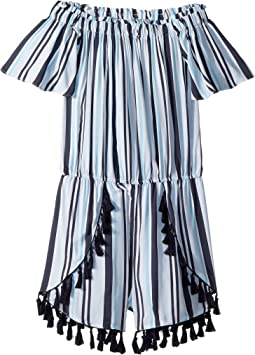 Fringe Tassel Trim Romper (Big Kids)