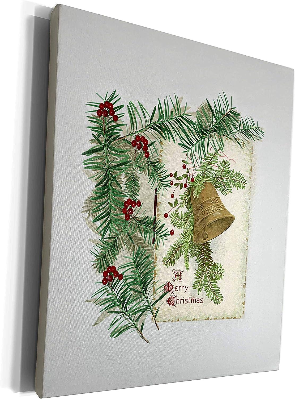 3dRose Beverly Turner Christmas Design - Framed wi Portland Mall Bell Vintage Max 72% OFF