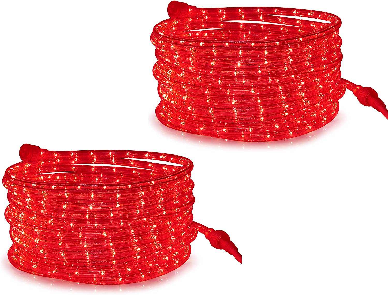 Tupkee LED Boston Mall Rope Light Red - 24 Outd m and for Indoor Feet 7.3 High quality