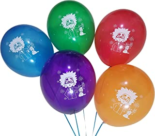 Mad Science Balloons for Birthday or Chemistry Party – 25 Pack – Green, Red, Purple, Blue, Orange