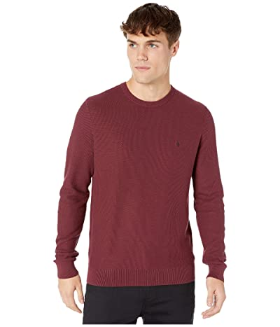 Original Penguin Long Sleeve Crew Neck Sweater (Tawny Port) Men