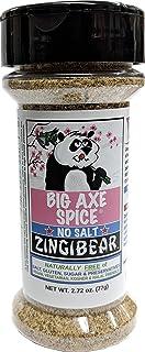 Big Axe Spice ZINGIBEAR - Asian Sodium Free Herb Seasoning Spice Blend - Salt Free, Sugar Free, Gluten Free, Preservative Free - Vegetarian Vegan Paleo Kosher & Halal Friendly