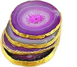 eSplanade Purple Agate Coasters set of 4