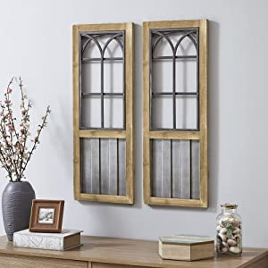 FirsTime & Co. Willow Farms Window Wall Plaque Set, 31.5