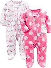 Simple Joys by Carter's 2-Pack Fleece Footed Sleep and Play Bebé-Niñas