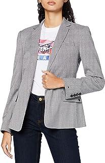 Tommy Hilfiger Check Slim SB Blazer Chaqueta para Mujer