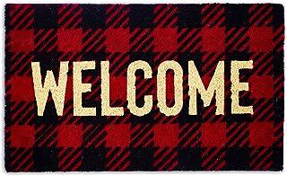 """DII Natural Coir Doormat, Checkers Mat, Buffalo Check Welcome, 18X30"""""""