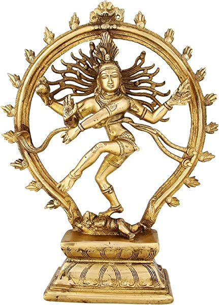 Indian Art Hinduism Decor Dancing Lord Shiva Nataraja Statue Religious Gift 13 Inch 3 38 Kg Large