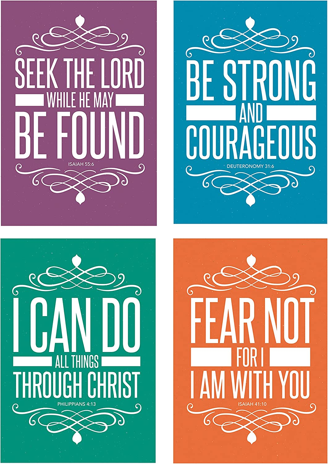 Christian Assorted 32 Pack POSTCARDS Religious Quotes 5 popular Sc low-pricing Bible