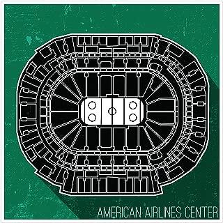 ArtsyCanvas Dallas - Hockey Seating Map - 36x36 Matte Poster Print Wall Art
