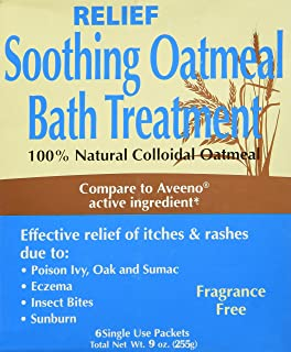 Relief MD Soothing Colloidal Oatmeal Bath Treatment - 6 Single Use Packets