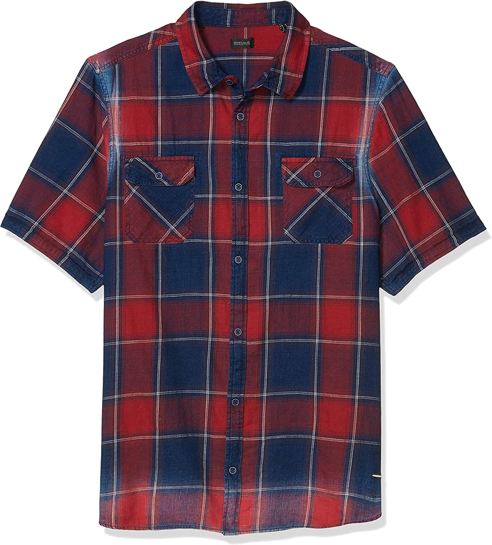 Buffalo David Bitton Men's Short Sleeve Button Down Denimex Shirt
